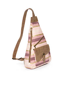 Elowen Striped Sling Backpack