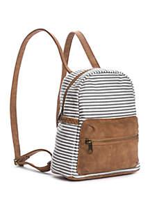 TRUE CRAFT Mini Dome Striped Backpack