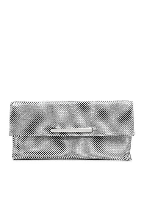 La Regale Modern Chainmail Envelope Clutch