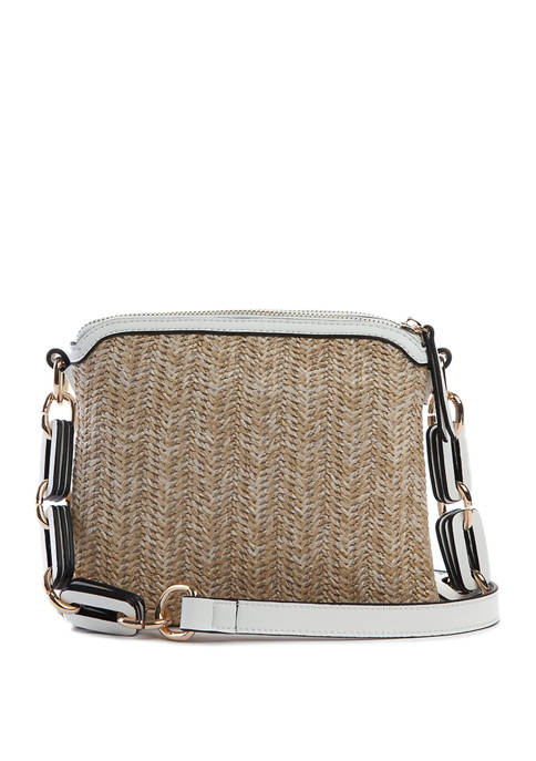 New Directions® Key Item Crossbody with Detailed Strap