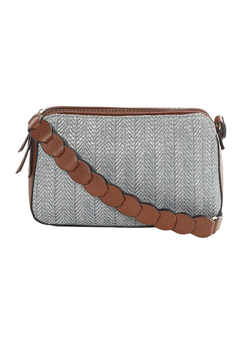 New Directions® Woven 3 Compartment Crossbody