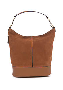 New Directions® Faux Leather Bucket Boho Bag
