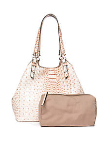 ... New Directions® Crocodile Key Item Shoulder Bag with Pouch 10a3ebf7fffca