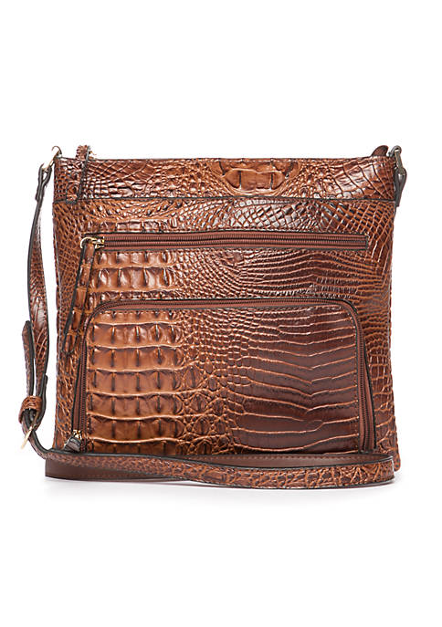 New Directions® Croc Double Crossbody