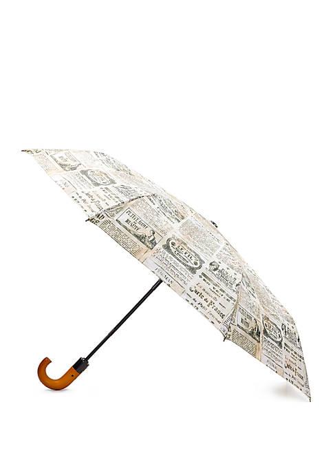 Patricia Nash Newspaper Print Magliano Umbrella