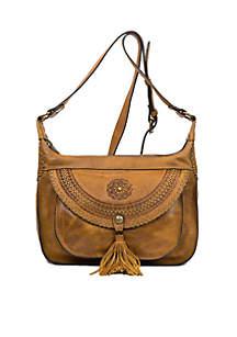 Distressed Vintage Camila 2 Zip Hobo Bag