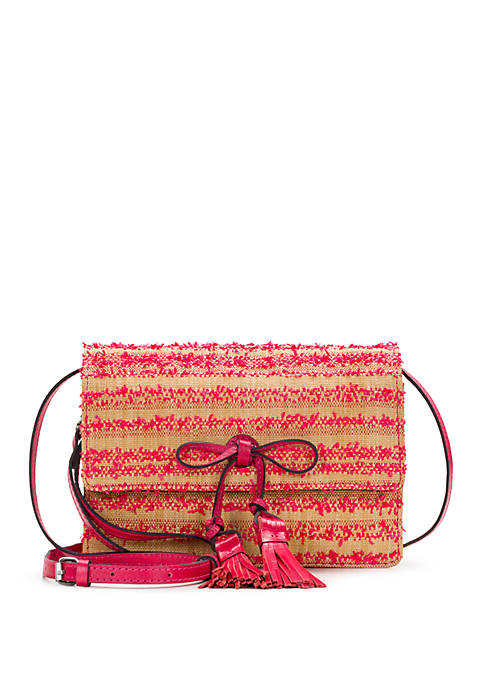 Patricia Nash Ebbe Straw Lanza Crossbody Bag