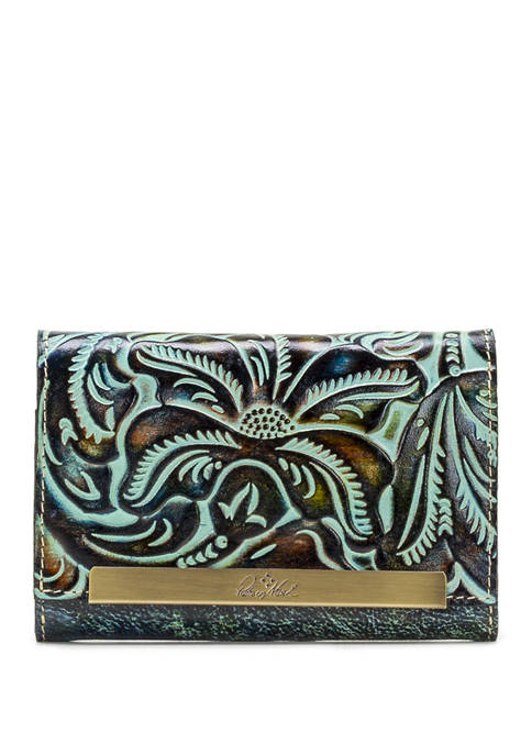 Burnished Tooled Cametti Wallet