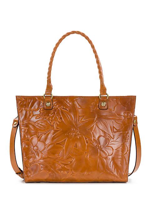 Patricia Nash Zancona Floral Deboss Tote Bag