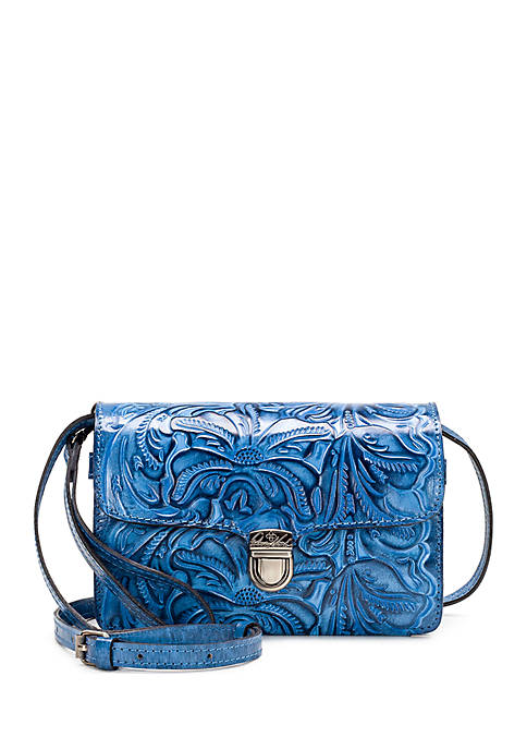 Patricia Nash Burnished Tooled Bianco Crossbody