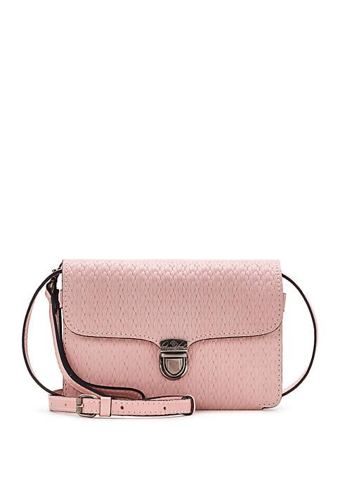 Patricia Nash Twisted Woven Bianco Crossbody Bag