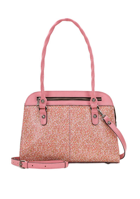 Patricia Nash Blush Bouquet Calvi Satchel