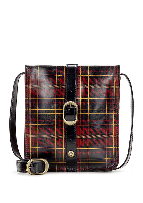 Patricia Nash Gold Foil Tartan Venezia Crossbody Bag