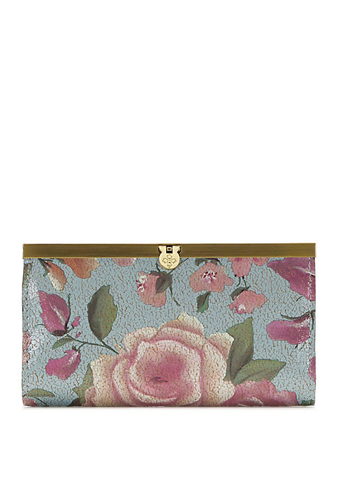 Patricia Nash Crackled Rose Cauchy Wallet