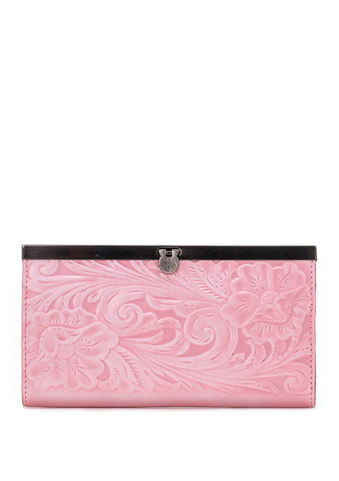 Patricia Nash White Waxed Tooled Cauchy Wallet