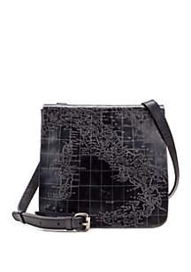 Metallic Map Granada Crossbody Bag
