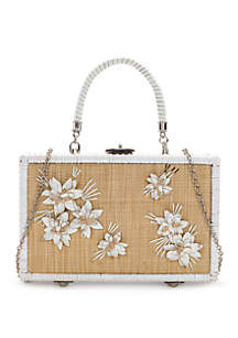 Patricia Nash Lamezia Wicker Box Frame Satchel
