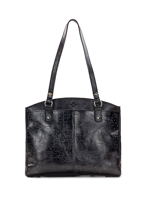 Patricia Nash Metallic Map Poppy Tote