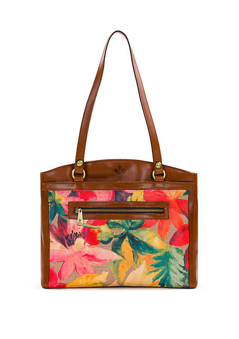 Poppy Spring Straw Tote Bag