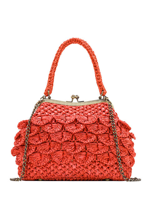 Patricia Nash Laureana Scalloped Rafia Bag