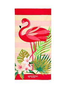 spartina 449 Flamingo Stripe Beach Towel