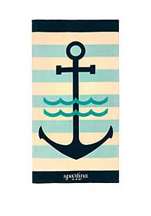 spartina 449 Anchor Stripe Beach Towel