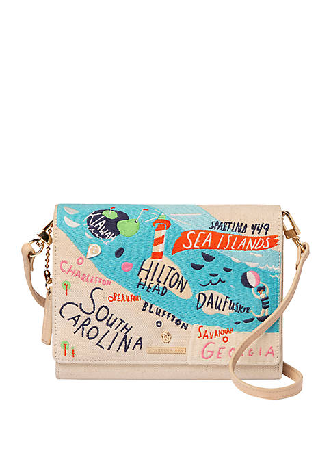 Sea Islands Embroidered Crossbody