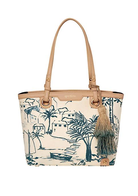spartina 449 Daise Seascape Island Tote Bag
