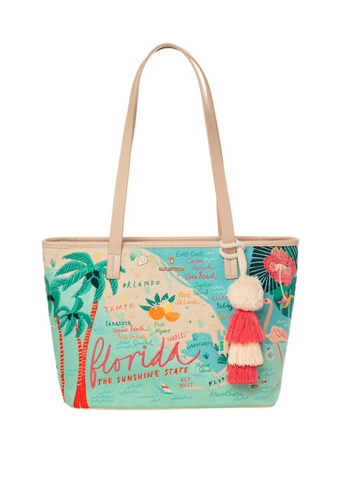 Florida Embroidered Tote