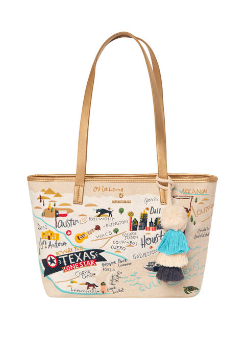 spartina 449 Texas Embroidered Tote