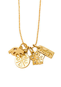 Gold-Tone Blue Ridge Mountains Charm Necklace