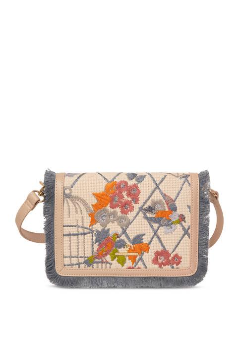 Songbird Embroidered Clutch Crossbody