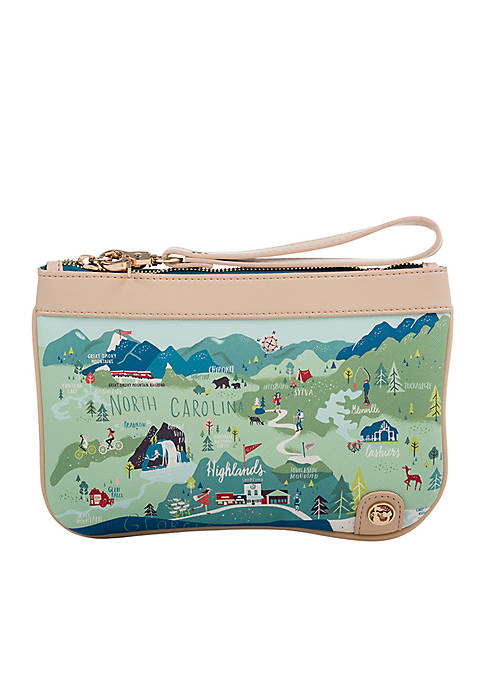 spartina 449 Blue Ridge Mountain Zip Wristlet