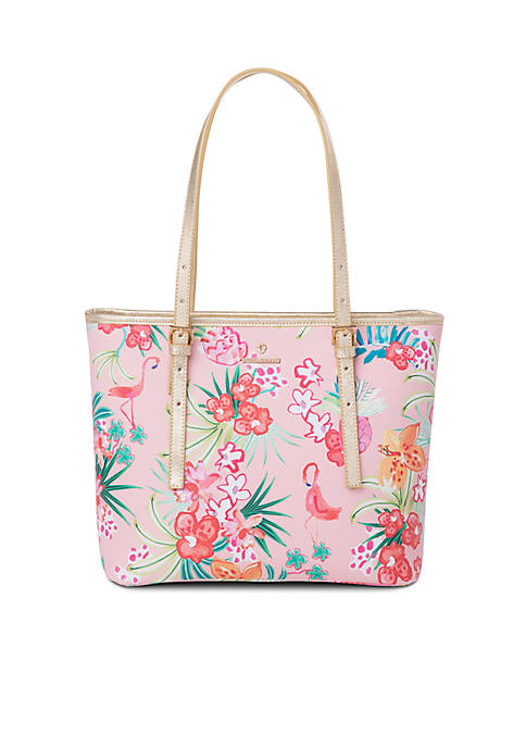 spartina 449 Retreat Flamingo Floral Medium Tote
