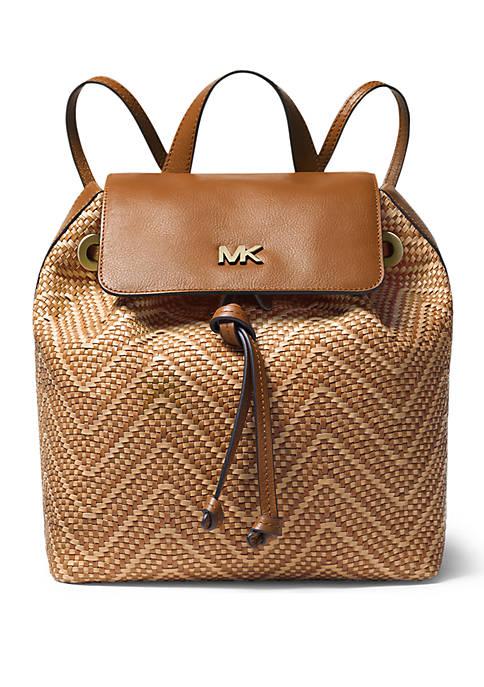 Junie Medium Woven Backpack