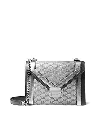 66fcf9ca2 MICHAEL Michael Kors. MICHAEL Michael Kors Whitney Large Metallic Shoulder  Bag