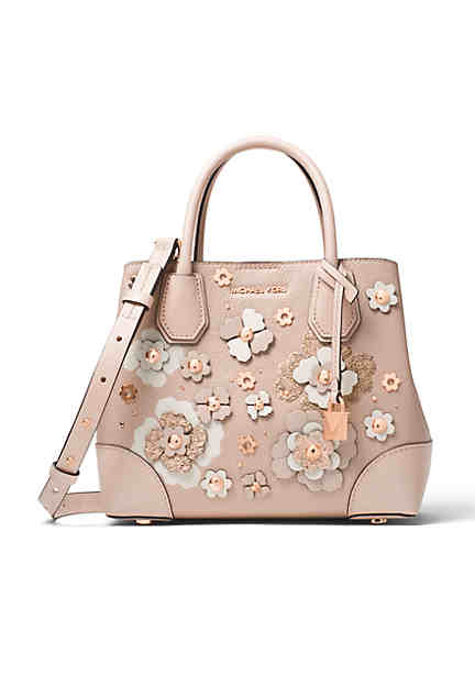 Michael Kors Mercer Gallery Small Center Zip Flower Satchel