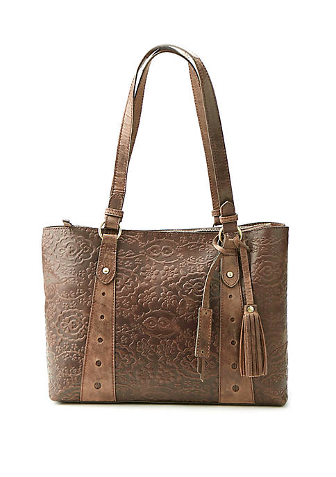 Diba True® Mariah Embossed Brocade Tote