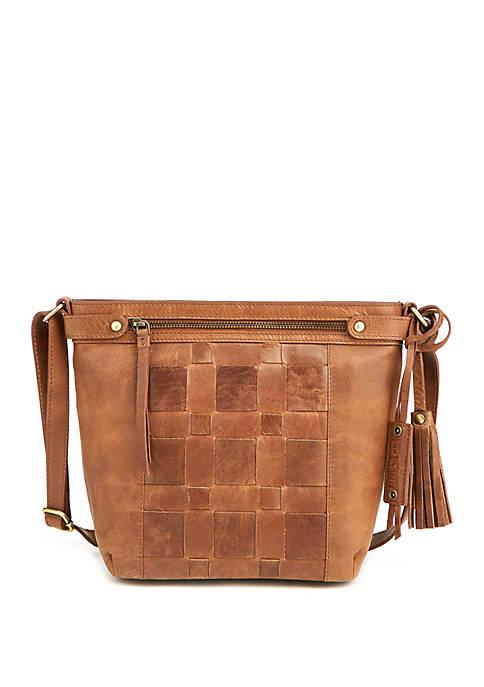 Diba True® Distressed Chambord Crossbody Bag