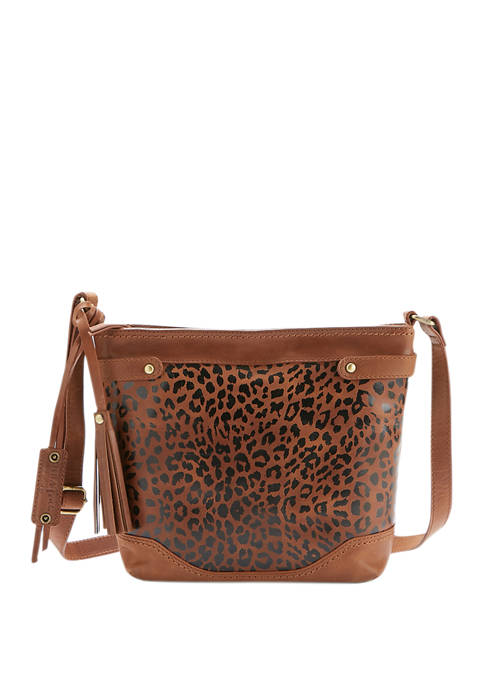 Lanza Distressed Crossbody Bag
