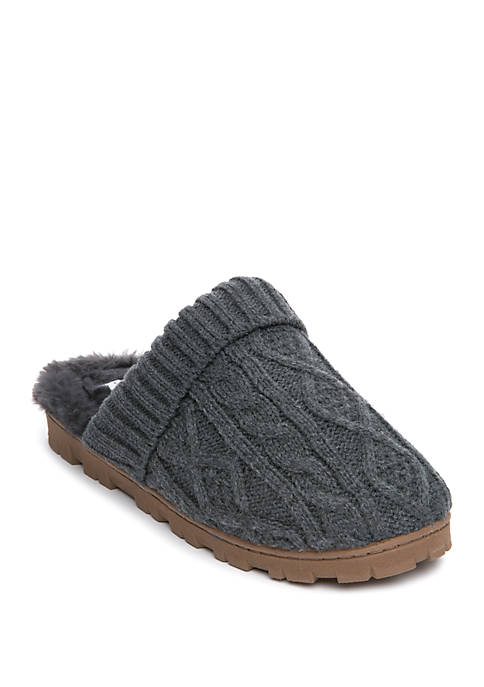Sweater Cable Knit Slippers