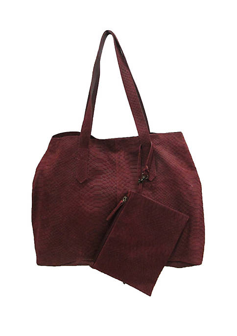 Chinese Laundry Ally Leather Tote With Inner Wallet