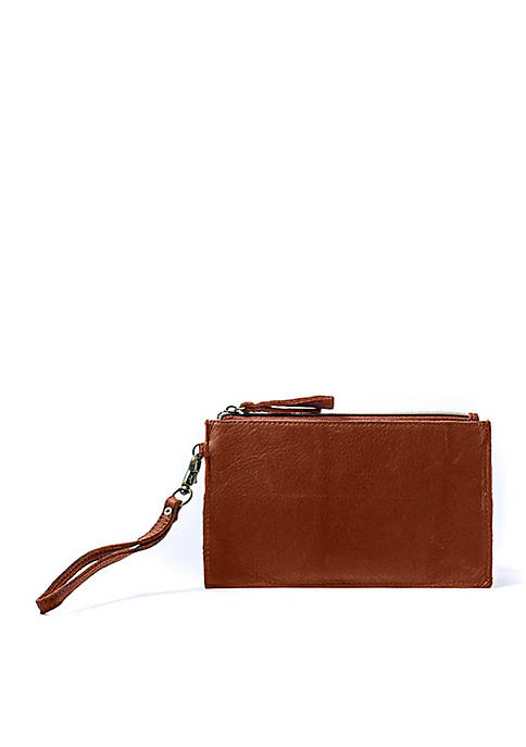 AMERICAN LEATHER CO. Wristlet With Charger