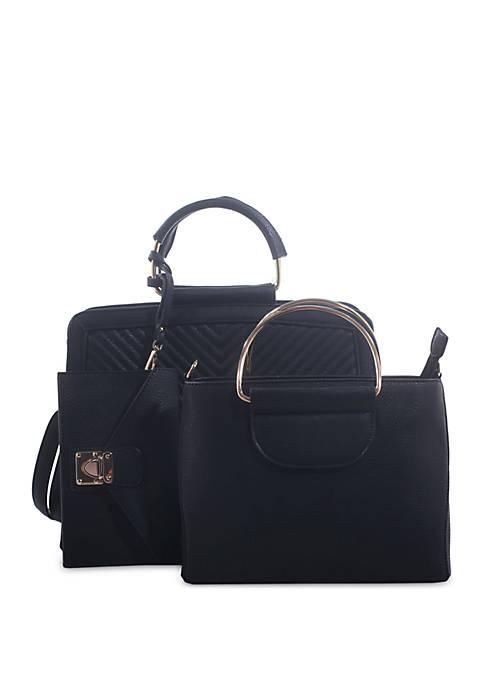 Kaari Blue™ 3 Piece Quilted Bag Set