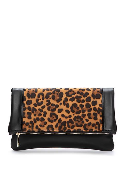 Leopard Block Clutch