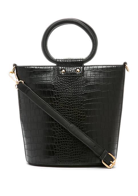 Croco Bucket Bag