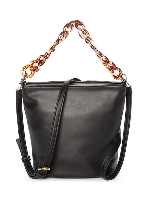 Kaari Blue™ Bucket Bag with Tortoise Chain Handle