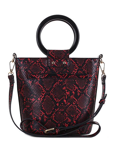 Kaari Blue™ Snake Bucket Bag