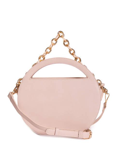 Cutout Circle Bag with Chain