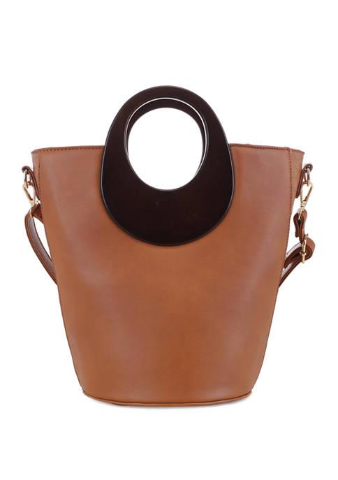 Smooth Bucket Bag with Oval Handle